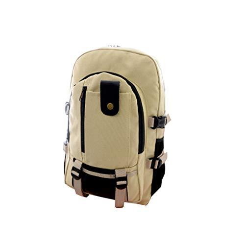 Mochila masculina Elonglin para laptop, casual, viagem, negócios, faculdade, Macio, Light Khaki, 43*30*16cm