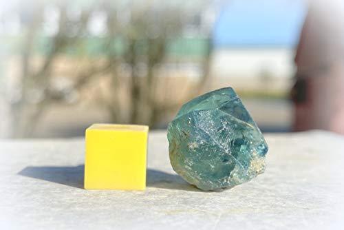 Fluorite, Twins – Vert (Fluorescent UV) Cristal de guérison spécimen de pierre minérale de cristal de guérison certifié SilverGeo® ✔️100% authentique