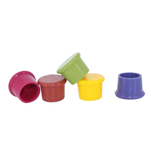 Syga Wine Stoppers (Set of 5),Wine Silicone Caps Stoppers,Silicone Reusable Wine and Beverage Bottle Stoppers