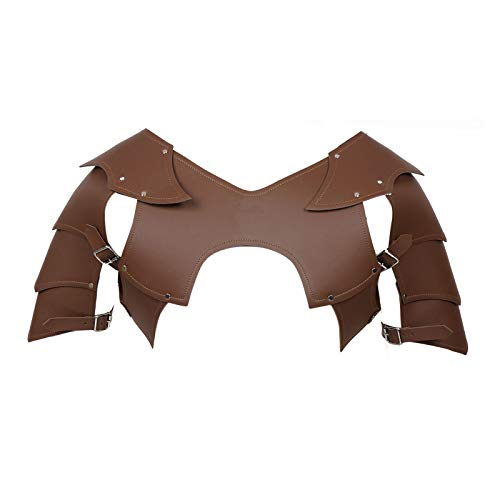 dPois Steampunk PU Leather Chest Armor Shoulder Armor Buckle Belt for...
