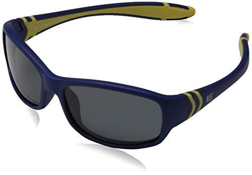 H.I.S Polarized zonnebril Kids HP50102, blauw/geel, grijze glazen, 1 stuk