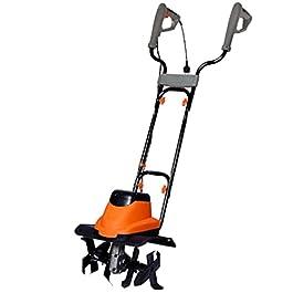 Hucoco DCRAFT | Motobineuse électrique | Puissance 1700W | Vitesse de Rotation 380 RPM | Matériel de binage | Orange