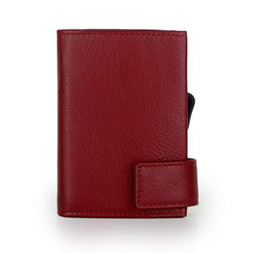SecWal SecWal Kartenetui mit Münzfach Druckknopf (Rot)