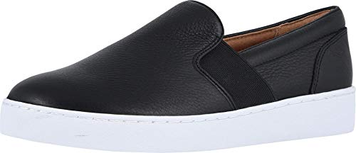 Vionic Women's Splendid Demetra Slip On Casual Shoe - Ladies Everyday Walking Shoes with Concealed Orthotic Arch Support Black 9 M US