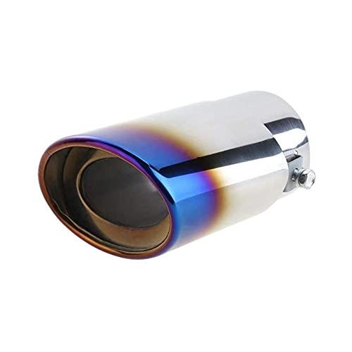TYIONCI Tubo de escape redondo trasero de acero inoxidable para coche, punta silenciadora, accesorios para coche, punta de escape de 1,5 a 2,1 pulgadas de diámetro de tubo de escape