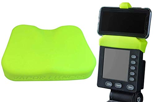 Yellow Phone Holder and Silicone Seat Cover Combo Designed for The Concept 2 Rowing Machine and PM5 Monitor