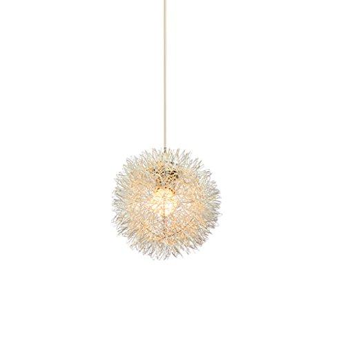 MEGSYL Creatieve aluminium plafondlamp, eenvoudige moderne kunst kroonluchter, restaurant-staaf-slaapkamer-kinderkamer-decoratieve verlichting plafondlamp, creatieve 1 lichtbron geometrische hanglamp, sferische ster kind-kroonluchter, zilver