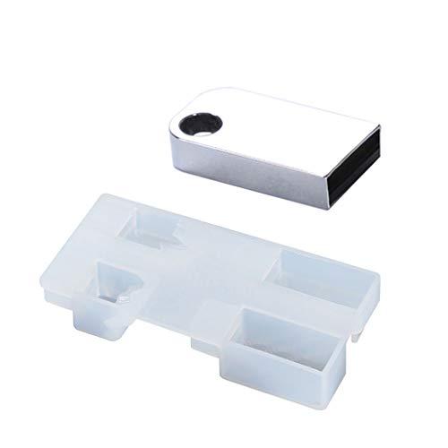 DIY Schneeberg USB Harz Formen Set mit 8 G USB-Treiber Epoxidharz Kunst Craft Einheitsgröße merhfarbig