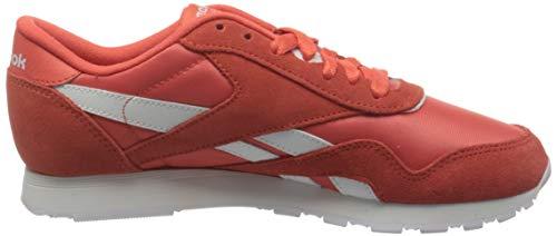 Reebok Women's Classic Nylon Sneaker, Semi Orange Flare White Semi Orange Flare, 4 UK