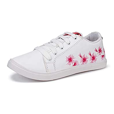 Shoefly Women White-1254 Casual Loafer Sneakers Shoes