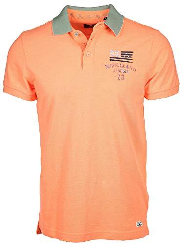 New Zealand Auckland Herren Poloshirt Saxton Größe L Orange (orange)
