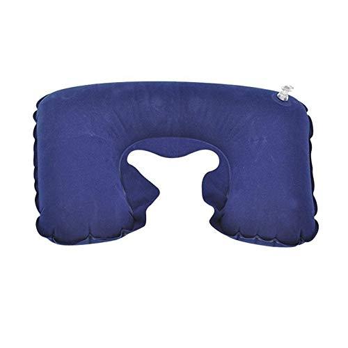 Youpin Almohada inflable en forma de U para embarazo, almohada de asiento de coche prenatal, embarazadas, viajes, cabeza, cuello, cojín de aire para cuidado (color azul)