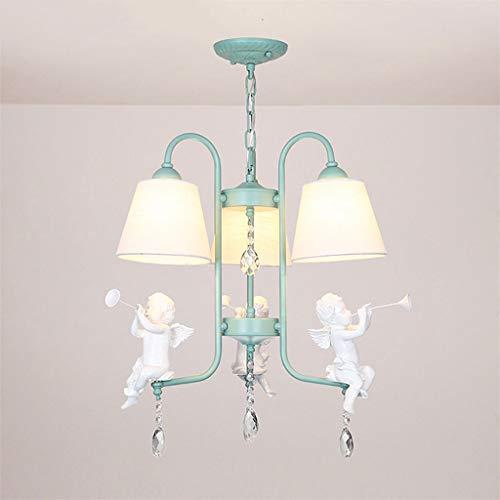 Candelabros iluminaci¨®n LED techo europeo pastoral resina creativa angel lantern modern mini paradise children' s bedroom dining room restaurant candelabros(45x42cm)