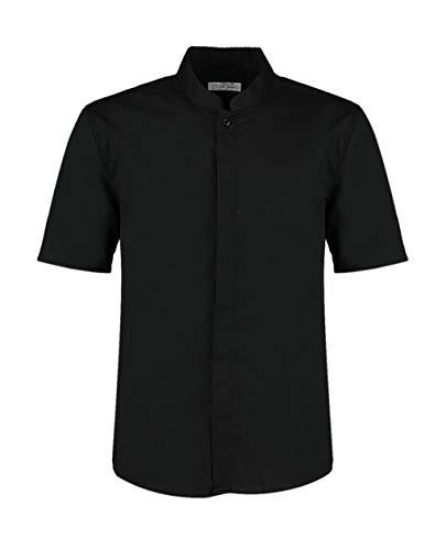 Bargear Kurzarm Kellner-Hemd mit Asia-Kragen KK122 XXL,Black