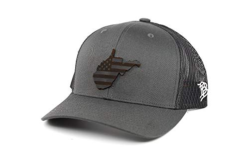 West Virginia Patriot Curved Trucker - OSFA/Charcoal/Black