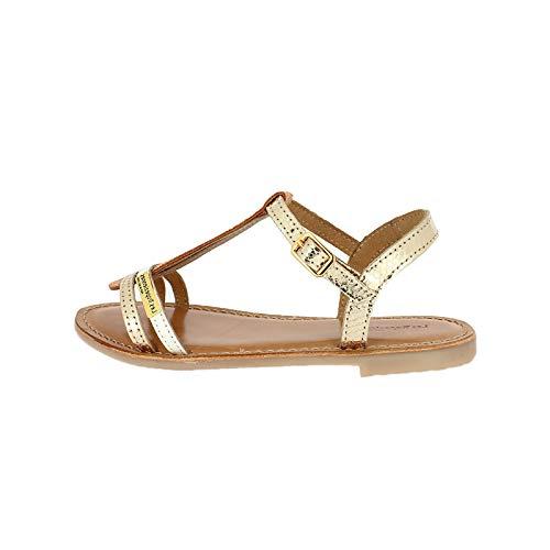 Les Tropéziennes par M. Belarbi Bada sandalen met enkelriempje voor meisjes, Goud of multi, 35 EU