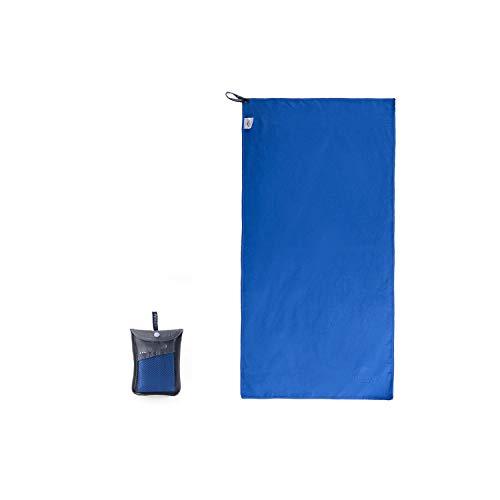 Big Incisors Campinghandtuch Mikrofasertuch Schnell Trocknend Reisetuch Camping Handtuch Fitness Fitness Sporttuch Schnell Trocken Badetuch Strandtuch-Blue-80x40 cm