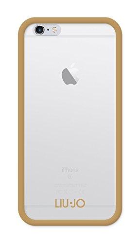 Liu Jo LJ6FRAMEG Custodia Semirigida per iPhone 6/6S, Oro