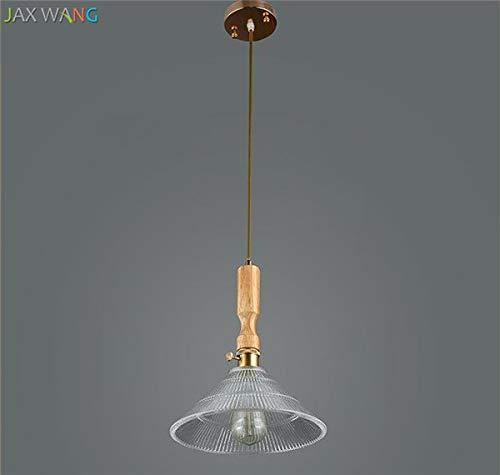 5151BuyWorld hanglamp van glas, modern, hoogwaardig, massief hout, om op te hangen, voor restaurant, The Living Room, strooien, bar, restaurant, balkon, keukenaccessoires