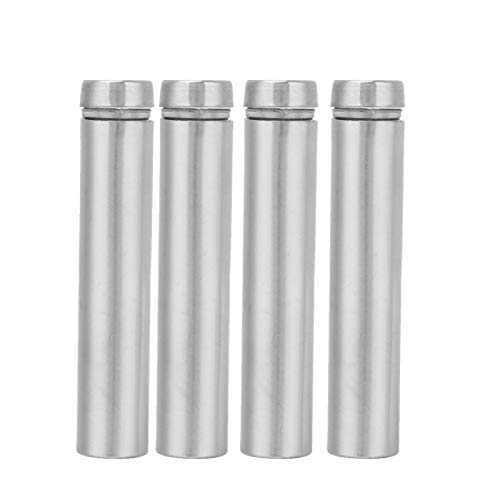 Hollow Glass Standoff, 4Pcs 1260mm 1280mm Stainless Steel Advertising Nail Holder with 4Pcs Self-Tapping Screw(1280mm)