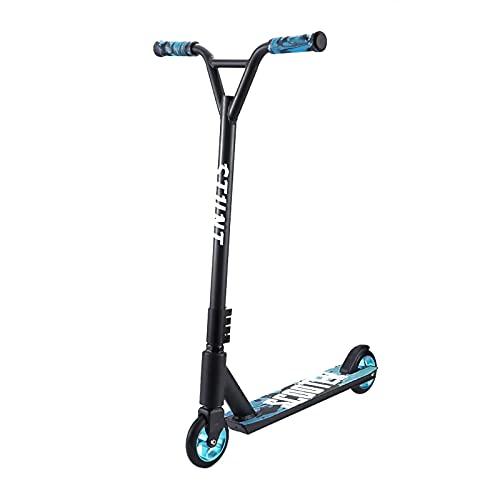 AGLZIYS Patinete Freestyle-Scooter Freestyle-Scooter para Niños, Rodamientos ABEC-7, Aluminio Ruedas 110mm, Patinete Freestyle para Niños Y Adultos a Partir de 8 Años (Color:Azul)