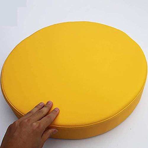 ZGYZ Cojines Redondos de Esponja para Asiento, cojín Impermeable para Silla con Ventana salediza, cojín para Silla de Comedor de futón Grueso, 8 cm, Amarillo Grueso, 40 cm