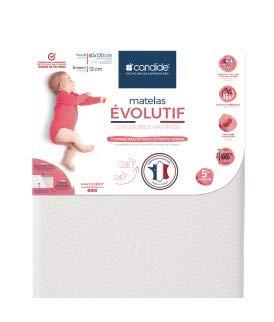 Candide 584082.0 Matratze évolutif (60x120x12 cm) für Babys, weiß