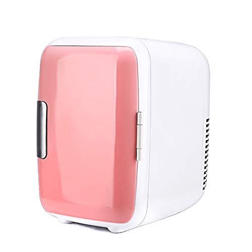 FISHD Refrigerador portátil del Coche,Congelador Aislante Caja Contenedor Camping Coolbox Mini camion frigorífico de Doble Uso Refrigerado y congelado,Pink