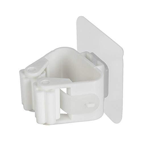 CAheadY Nicht durchschlagender klebender Wand-Mopp-Halter-Besen-Aufhänger-Haken-Badezimmer-Organisator White