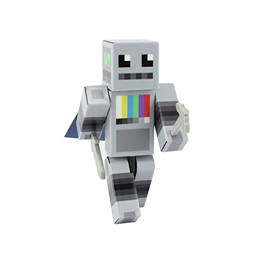 EnderToys Raul Robot Action Figure Toy, 4 Inch Custom Series Figurines