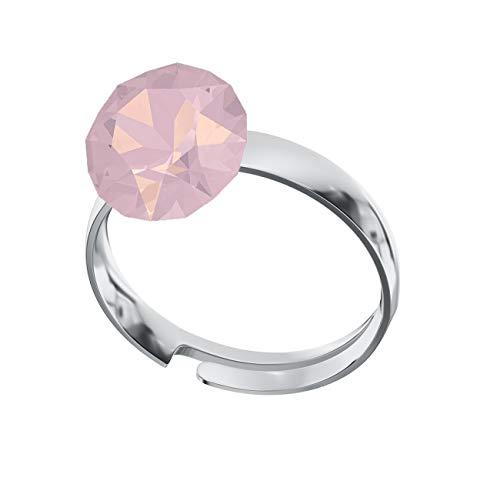 Crystals & Stones Ring *XIRIUS* *VIELE FARBEN* Swarovski® Elements - 925 Sterling Silber Damen Ring Größe Verstellbar! Sheer elegante Ring! PIN/75 (Rose Water Opal)