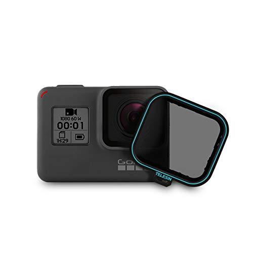 TELESIN - Filtro de lente CPL , 1 paquete filtro de lente CPL, filtro de lente circular protector, filtros polarizadores con tapa para la lente para cámara GoPro Hero 2018, Hero 6, Hero 5 (CPL).