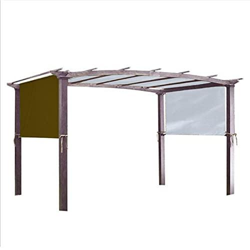 Funming Pergola - Cubierta para toldo de repuesto con correa de fijación universal impermeable para estructura de sombra de hogar al aire libre