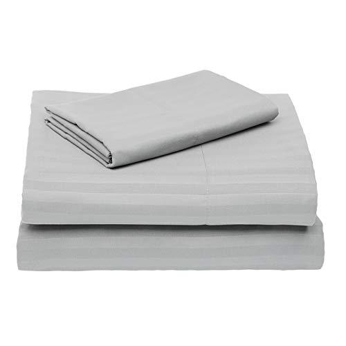 Amazon Basics–Deluxe de microfibra Juego de sábanas, gris oscuro, cama individual