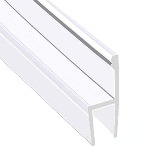 Tira de sellado para mamparas de ducha, sello de plástico de goma tipo H para 6 mm de vidrio curvado o recto, sello inferior de puerta de ducha (1 m)