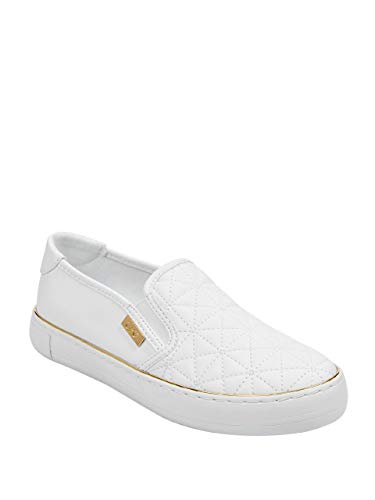 G By Guess Women's Golly Platform Slip-On Sneakers White