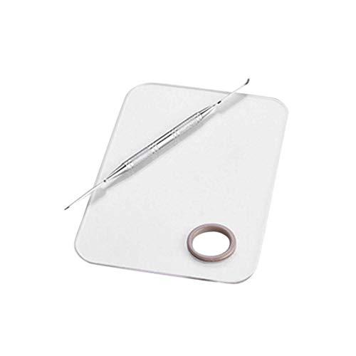ForceSthrength Maniküre kosmetische mischende Paletten-Werkzeug-Edelstahl-Platte