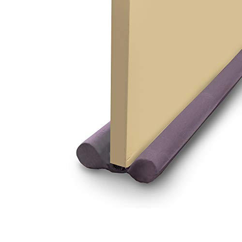 SwiftJet Door Draft Stopper, Heavy Duty Door Sweep, Sound Proof Reduce Noise Keeping Warm in and Cold Out, Thicker Door Draft, Energy Saving Under Door Draft Stopper, Door Weatherstripping