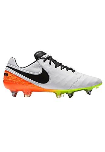 Nike Tiempo Legend Vi SG-Pro, Botas de fútbol Hombre, Blanco (White/Black-Total Orange-Volt), 40 1/2