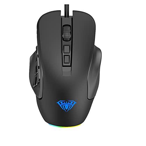 Funkmaus Maus Gaming Maus Gaming-Maus Maus Kabelgebundenes E-Sportspiel Mechanisches Notebook Desktop-Computer RGB 10000 DPI einstellbar,programmierbare optische Maus mit RGB-Hintergrundbeleuchtung