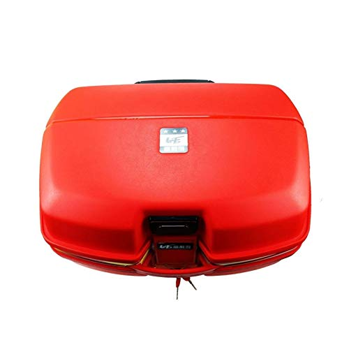 Caja Superior de Motor a Prueba de Agua del Tronco de la Motocicleta 54L para la Caja de la Herramienta de la Herramienta de Equipaje de Almacenamiento de Moto de Doble Casco con Cierre Seguro Negro