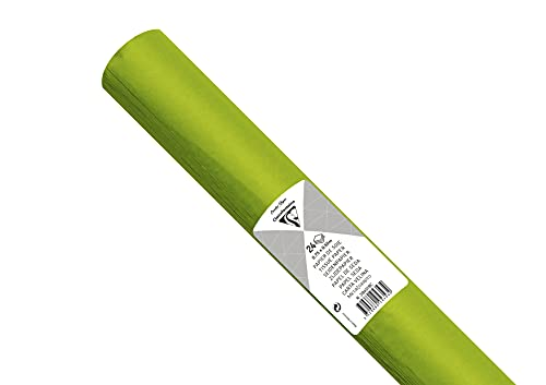 Clairefontaine Maildor - Rollo de papel de seda (18 g, 50 x 75 cm, 24 hojas), color verde