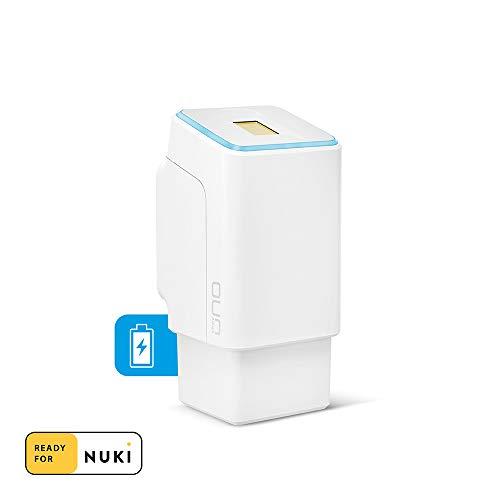 ekey uno Fingerprint mit Akku und Funk - Praktische Erweiterung für das Nuki Smart Lock 1.0 und 2.0 - Akkubetriebener Fingerprint für alle gängigen Türen