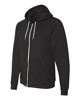 American Apparel Flex Fleece Long Sleeve Zip Hoodie F497W Black Medium
