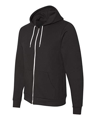 American Apparel Flex Fleece Long Sleeve Zip Hoodie, F497W, Black, Medium