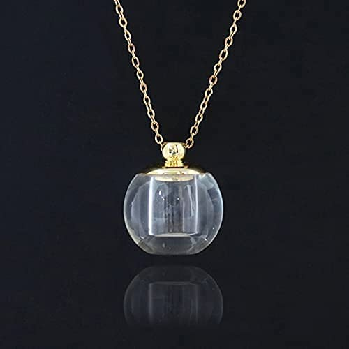 CJSZSD 1 collar con colgante de urna conmemorativa de cristal, para cenizas o recuerdos, collar de cadena de acero inoxidable