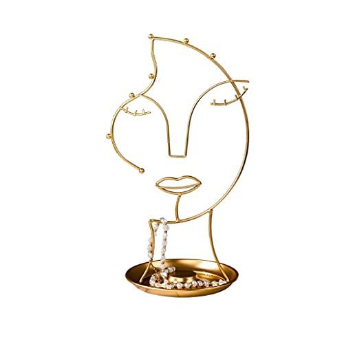 Aiglen Adornos de metal DIY joyería exhibición estante de exhibición de la joyería del estante del almacenamiento del estante del estante del almacenamiento de la decoración de