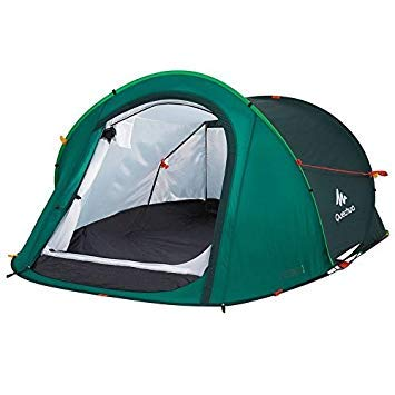 Quechua Decathlon 2 Seconds Pop Up Easy-to-Carry Tent 2 Person,Green by