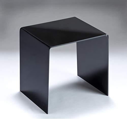 HOWE-Deko Hochwertiger Acryl-Glas Beistelltisch/Nachttisch, schwarz glänzend, B44 x T29,5 cm, H 48 cm, Acryl-Glas-Stärke 8 mm