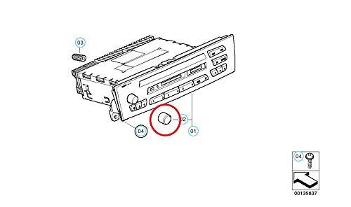 3-serie E90 CD-speler Volumeknop 65129119442 9119442 2007 Nieuw Echt